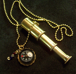Mini Telescope with Compass by mymysticgems