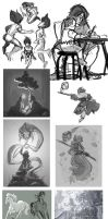 Sketch dump 2015 by MadJesters1
