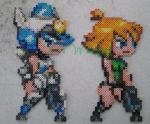 Mighty Switch Force Patricia Wagon Bead Sprites by VV-Weegee