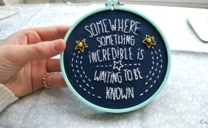 First ever embroidery hoop! by xmy-craftsx