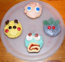 Pokemon Cupcakes by Thepiedsniper