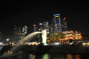 Singapore Merlion by ice-bear