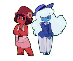 20s Sapphire/Ruby by Otterlore