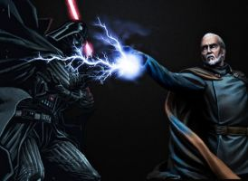 Darth Vader vs Darth tyranus by MayanTimeGod