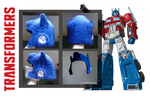 Optimus Prime Crocheted Hat by Arsevere