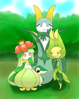 Lilligant leavanny  snivy and serperior