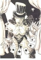 Zatanna with cards by Bernardohq