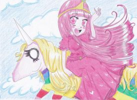 ~ Lady Rainicorn and Princess Bubblegum ~ by FlyingCatsandGlitter