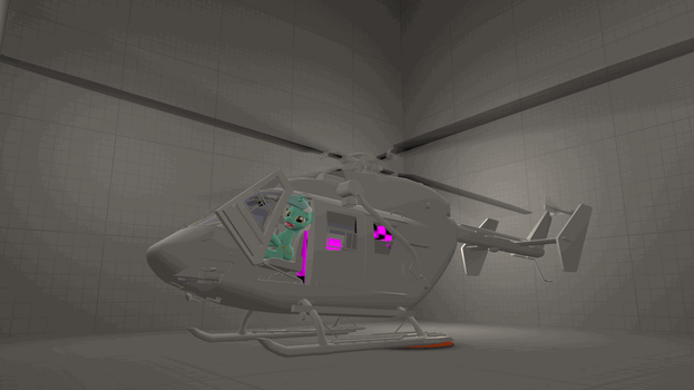WIP Helicopter for SFM (BK117) Animated by JDash42