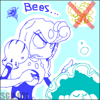 bees splash by FuPoo