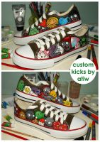 Plants vs Zombies Chucks by ectomurf