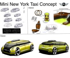 Mini NYC Taxi Concept Final by dyrborgdesign