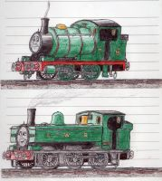 Schoolbook Sketches- Percy and Duck by 01Salty