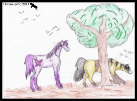 Dutchess you can't hide behind a tree. by Horses-Echo