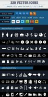PACK OF 220 VECTOR ICONS OF 5 CATEGORIES by renefranceschi