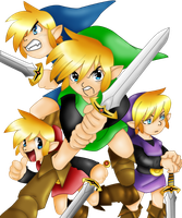 The Four Swords by whiteh-is-me