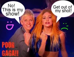 Gaga on Ellen by ladygagaluvR