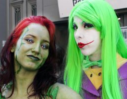 Poison Ivy and Lady Joker by florbarrios