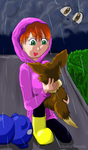 Caught in the rain by charlot-sweetie