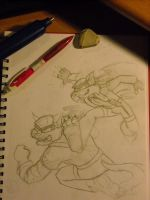 SWAT Kats initial roughs1 by Bee-chan