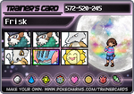 Frisk's Trainer Card! by hurricanestormer