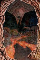 Dragon-in-cave-bookcover by PuNK-A-CaT