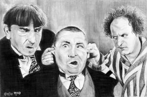 The Three Stooges by marmicminipark