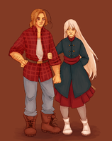 Hetalia: 2p!Canada and fem!Prussia | Commission #5 by Lazorite