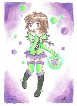 purple green by xXSUZIE-QXx