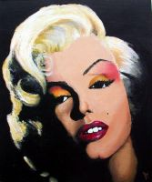 Marilyn's kiss by free-k