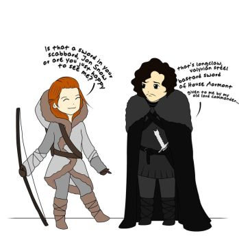 Meanwhile in GOT Heaven: Jon Snow knows nothing by ann-ban
