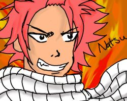 Natsu in the fire by SephirothMichaelis