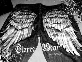 Winged denim by Gloree