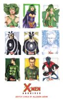 X-Men Archives Sketch Cards 8 by AllisonSohn