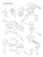Action Poses by armobot