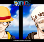 Monkey D Luffy | Trafalgar Law by AJM-FairyTail