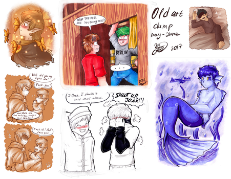 .: May-June Youtube and AUs Art Dump :. by AquaGD