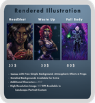 Rendered Illustration Commission Info by ChloexBowie