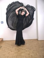 Stock - Dark godess pose romantic gothic dance by S-T-A-R-gazer