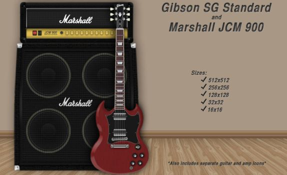 Gibson SG and Marshall Icon by hvrock13