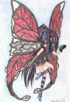 Gothic Butterfly fairy by karovie