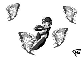 Megaman 1 by Brainstorm-bw-style