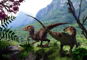 Velociraptors by DanteFitts