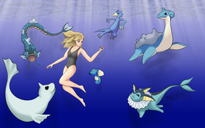 Water Trainer: Sarah by MeganElf