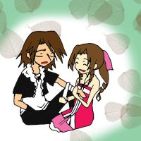 Leon and Aerith by CherryBlossoms24