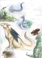 Realistic Pokemon Dragons by Ansemaru