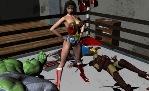 Wonder Woman vs the Avengers by MickLee99
