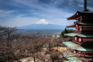 Chureito Pagoda Japan by matsunuma