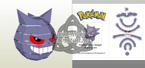 Pokemon Mini Gengar Papercraft Preview by HellswordPapercraft