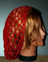 open work maroon slouch hat by LilithsSmile